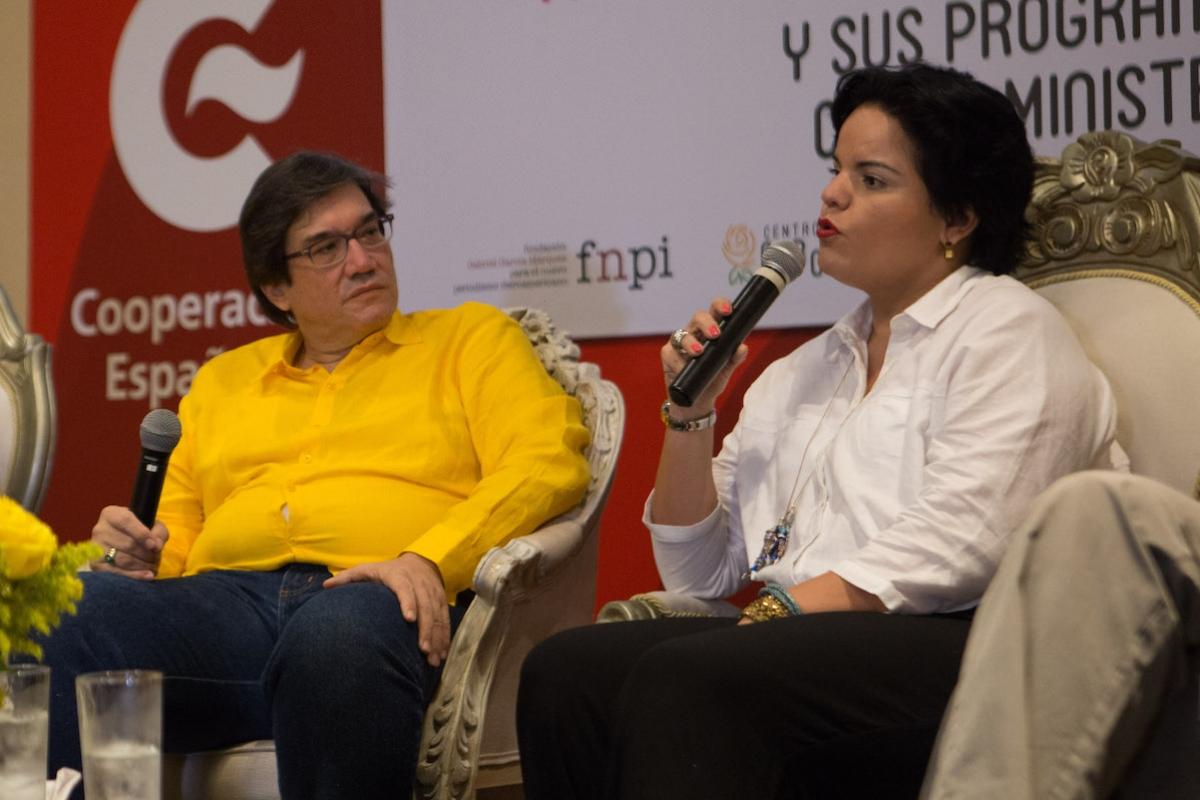 Jaime Abello, director general de la FNPI, y María del Pilar Rodríguez, investigadora y guionista oficial de la ruta Macondo Colombia, participarán en actividades de la Filbo 2019, relacionadas con la vida y obra del nobel.