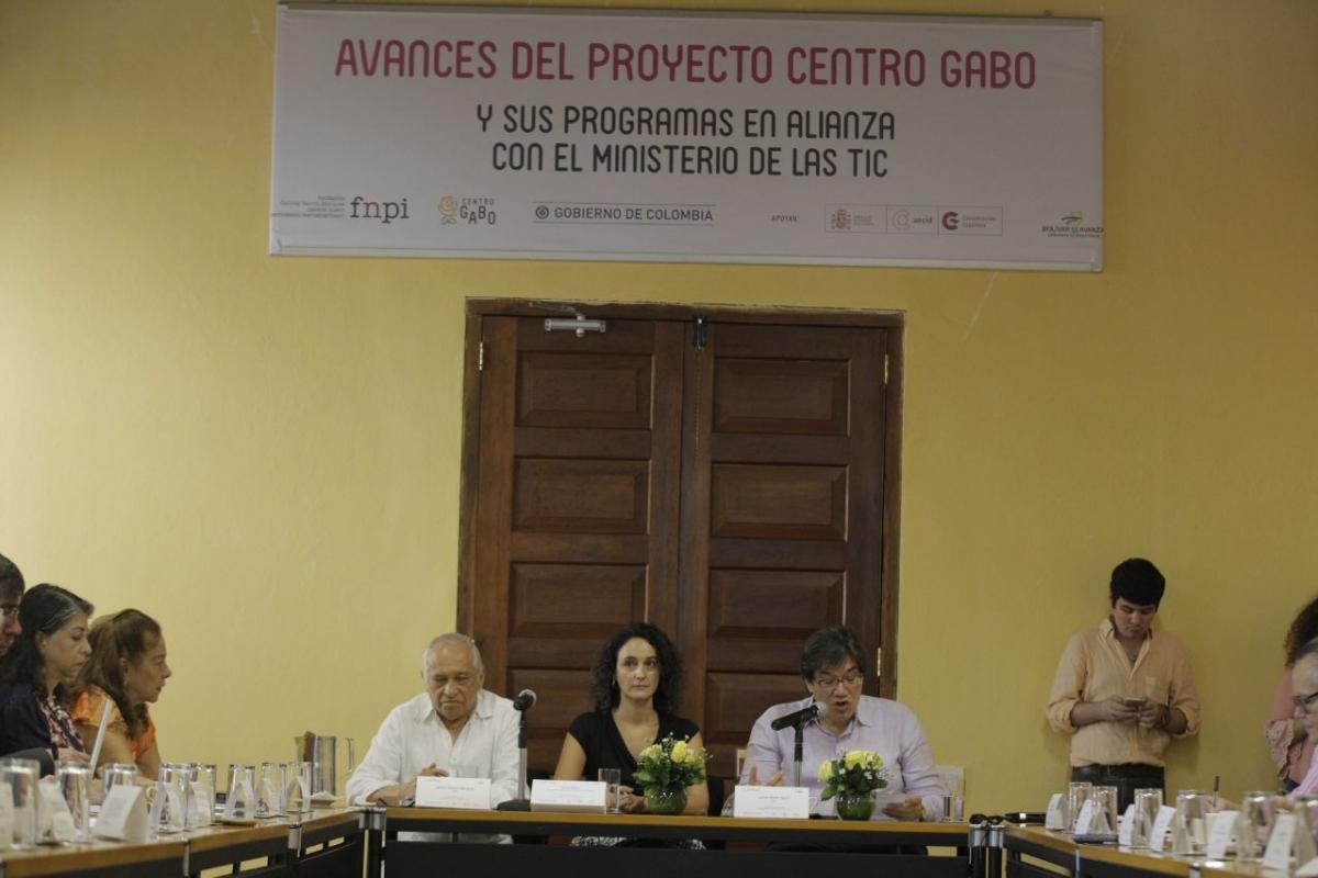 Presentación de los avances del Centro Gabo. Foto: Jonathan Sayust.