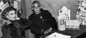Gabo con Gloria Valencia de Castaño