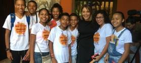 Niños y jovenes de Cronicando en el Hay Cartagena 2019