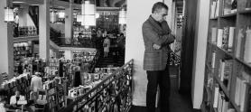 En la librería Scribner's (Nueva York, 1988)