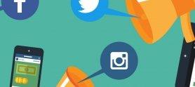 Ilustración de compartir en Facebook, Twitter e Instagram