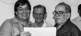 Gabo con Jaime Abello Banfi y José Salgar en la conmemoración del aniversario de la FNPI en Cartagena, 2006. Foto: Archivo FNPI / Libardo Cano.