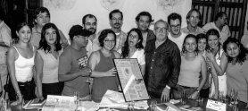 Con participantes de un taller de la fnpi