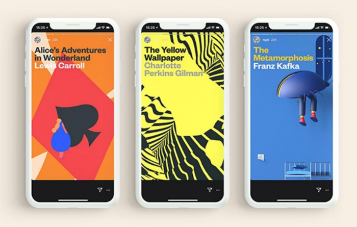 Libros de la Biblioteca Pública de Nueva York en Instagram