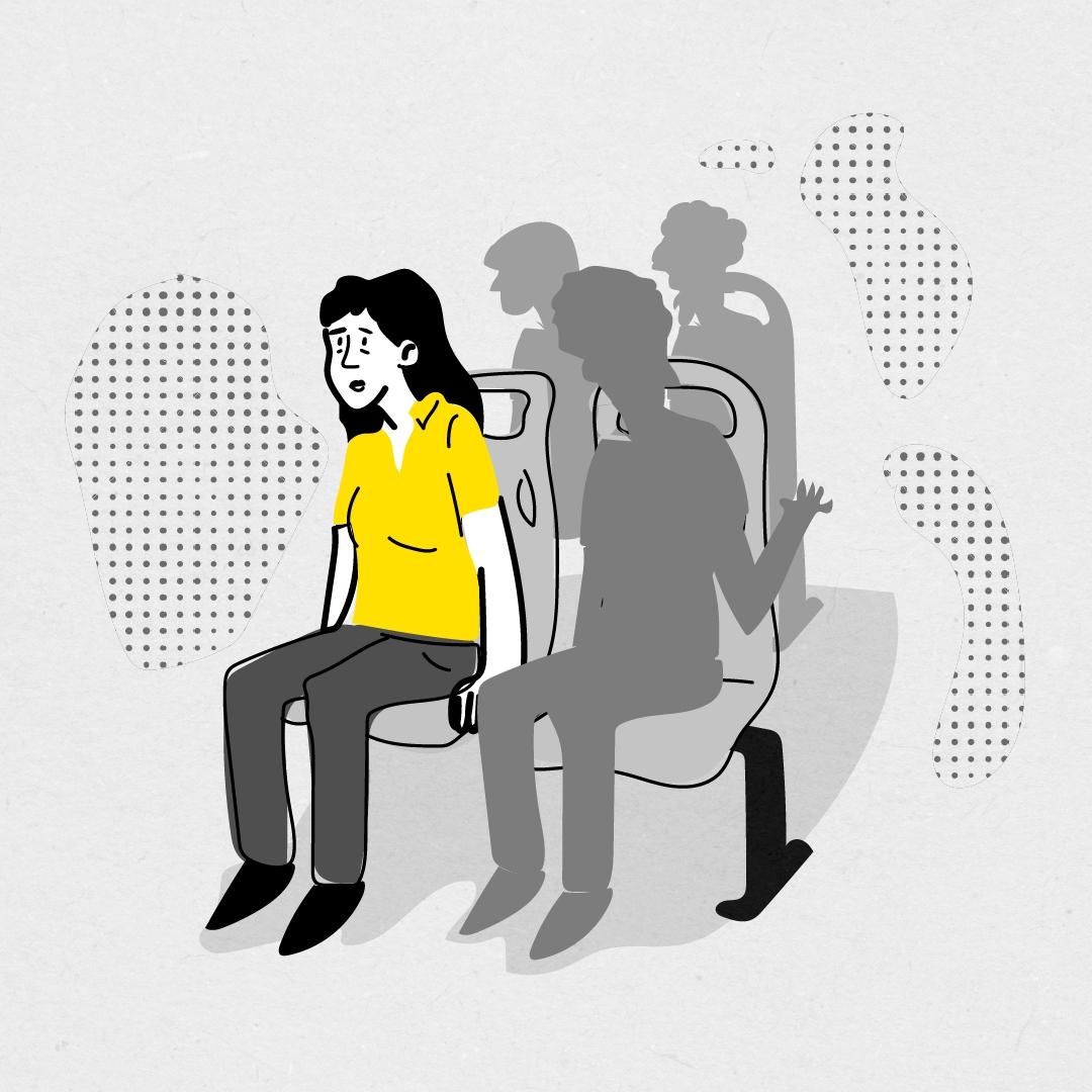 El problema de los asientos de bus